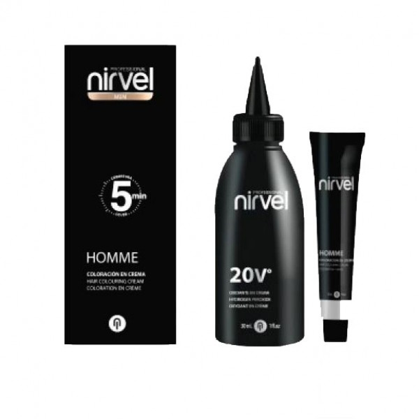 Homme Hair Colouring Cream Kit (Gives DARK GREY result)