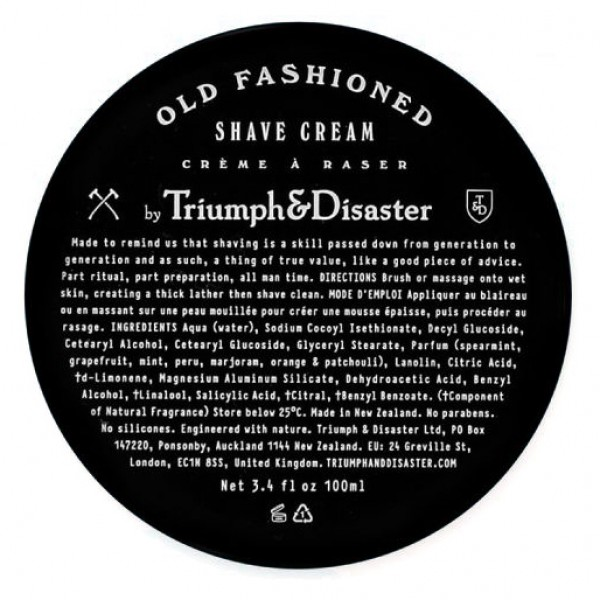 Triumph & Disaster Old Fashioned Shave Cream Jar 100ml