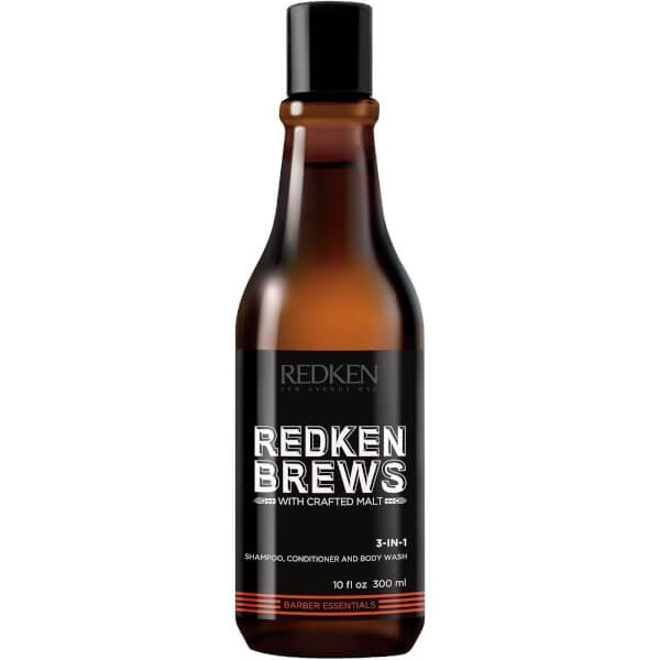 Redken Brews 3-in-1 Shampoo, Conditioner & Bodywash 300ml